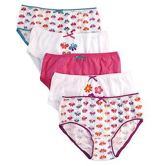 Girls Anucci Kids 100% Cotton Printed Briefs pants underwear 5 Pack