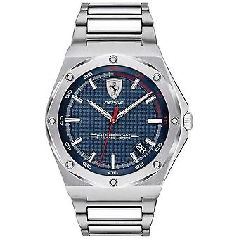Scuderia Ferrari Mens Aspire Stainless Steel Blue Dial Date Display 0830530 Watch