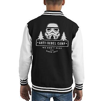 Opprinnelige Stormtrooper Anti Rebel Camp barneklubb Varsity jakke