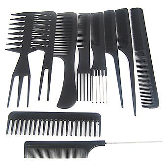 TRIXES 10Pc Salon Hair Styling Hairdressing hairdresser Barber Combs Set