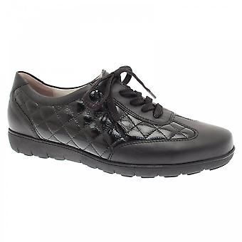 Waldläufer Handy Lace-up Quilted Patent Trainer