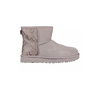 UGG Classic Mini Metallic Snake Silver 1101472SLVR universal winter women shoes