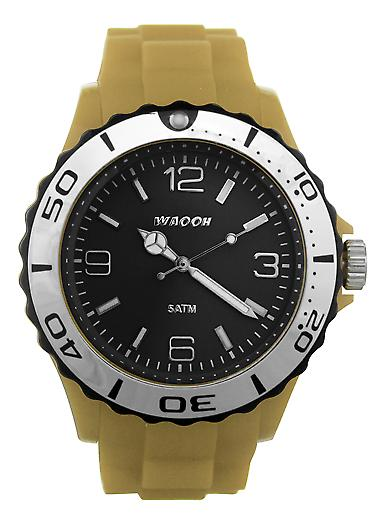 Waooh - MC42 Watch Black Dial Black Bezel Silver