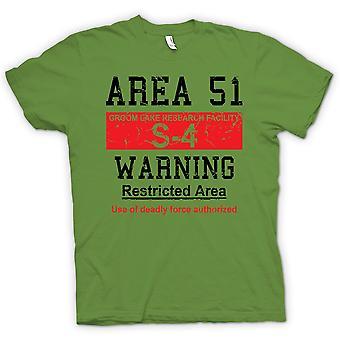 Hombres camiseta-área 51 signo - Ovnis - conspiración