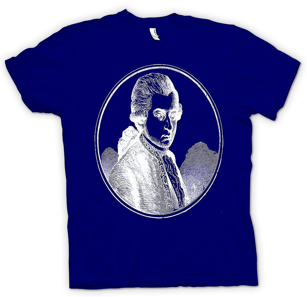 Mens t-shirt-Wolfgang Amadeus Mozart