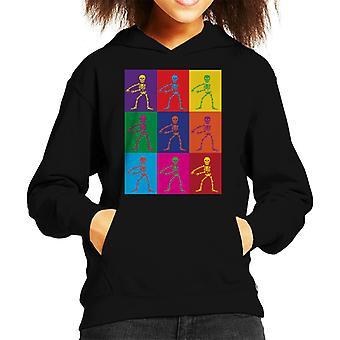 Flossing Pop Art Skeleton Kid's Hooded Sweatshirt