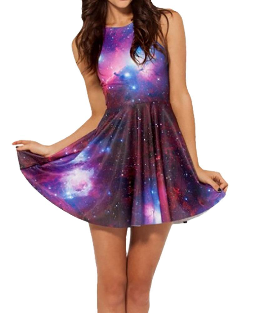 Waooh - Skater Dress pattern galaxy Rohi