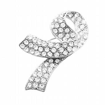 Breast Cancer Brooch Fully Embedded with Crystals At Affordable Price