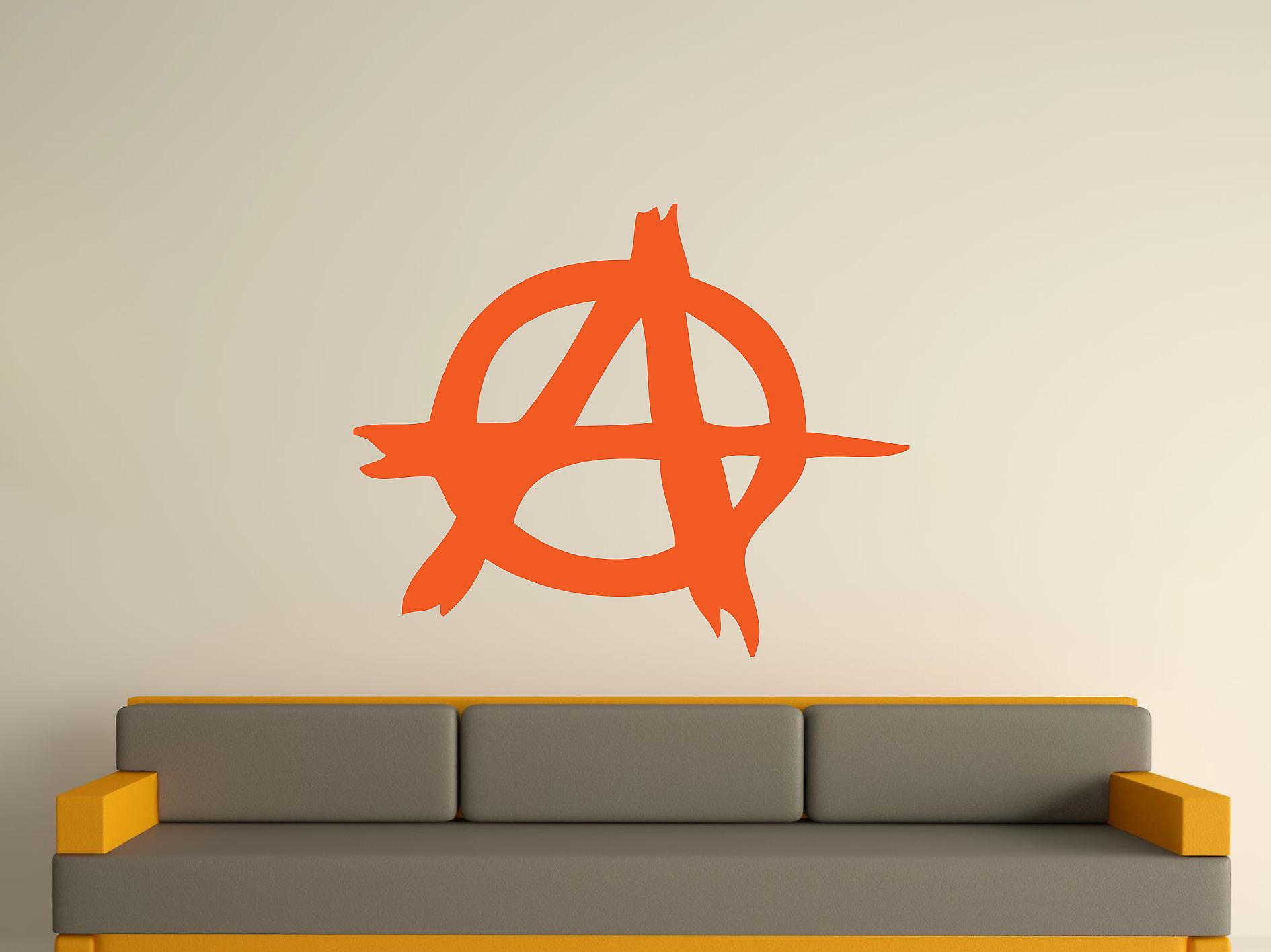 Anarchy Symbol Wall Art Sticker - Orange
