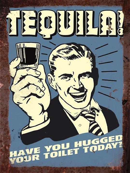 Vintage Metal Wall Sign - Tequila