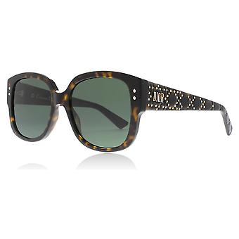 5cab9f38edf Christian Dior Lady Dior Studs 086 Dark Havana Lady Dior Studs Square  Sunglasses Lens Category 3
