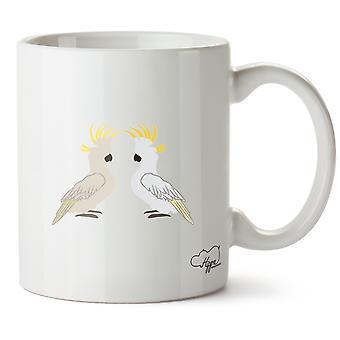 Hippowarehouse Two Cockatoo 10 oz Mug