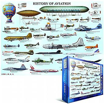 History of Aviation 1000 piece jigsaw puzzle   (pz)