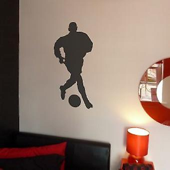 FOOTBALLER 2 WALL ART STICKER