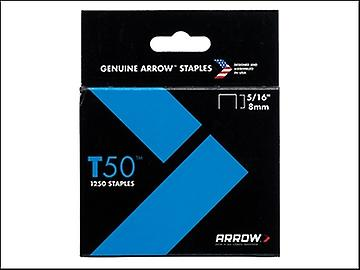 Arrow T50 Staples 8mm (5/16in) Box 1250