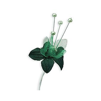 SALE -  72 Fabric Baby Breath Flowers - Bottle Green