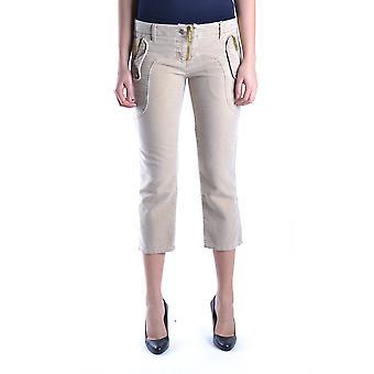 Frankie Morello Beige Cotton Pants
