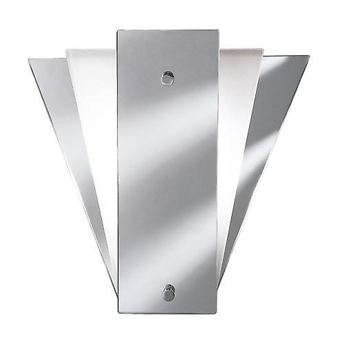 Searchlight 6201 Wall Lights Deco Fan Style Frost Mirror Wall Bracket