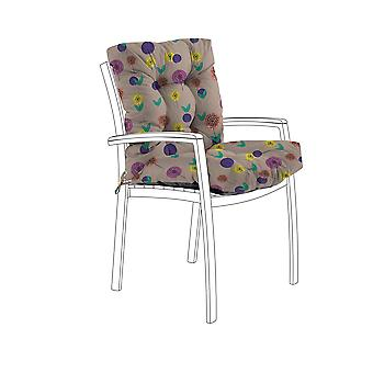 Gardenista® Water Resistant Spots Blush Print Tufted Two Part Chair Cushion