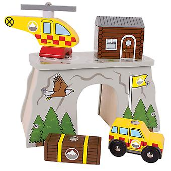 Bigjigs Rail Wooden Mountain Rescue Playset Train Track Accessories