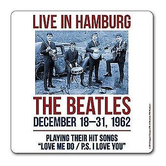 La Beatles Coaster 1962 Hambourg affiche nouvelle officiel 9,5 x 9,5 cm seule boisson
