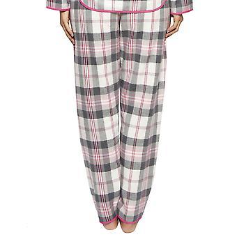 Cyberjammies 4251 Women's Lola Pink Mix Check Cotton Pyjama Pant
