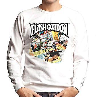 Flash Gordon Gryph Riding Montage Men's Sweatshirt