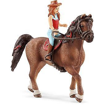 Schleich 42514 Sarah & Mystery Horse Club Figurine