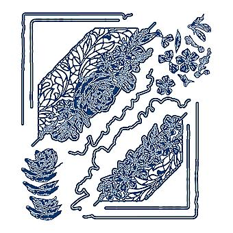 Tattered Lace Over the Edge 3D Arrangement Perfect Periwinkle Die Set