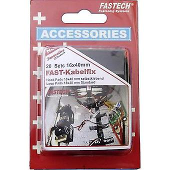 Hook-and-loop tape stick-on, for bundling Hook and loop pad (L x W) 40 mm x 16 mm Black Fastech 611-330-Mod 40 Parts