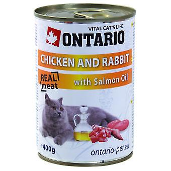 Ontario Cat Chicken / Rabbit / Salmon Oil 400g (Cats , Cat Food , Wet Food)