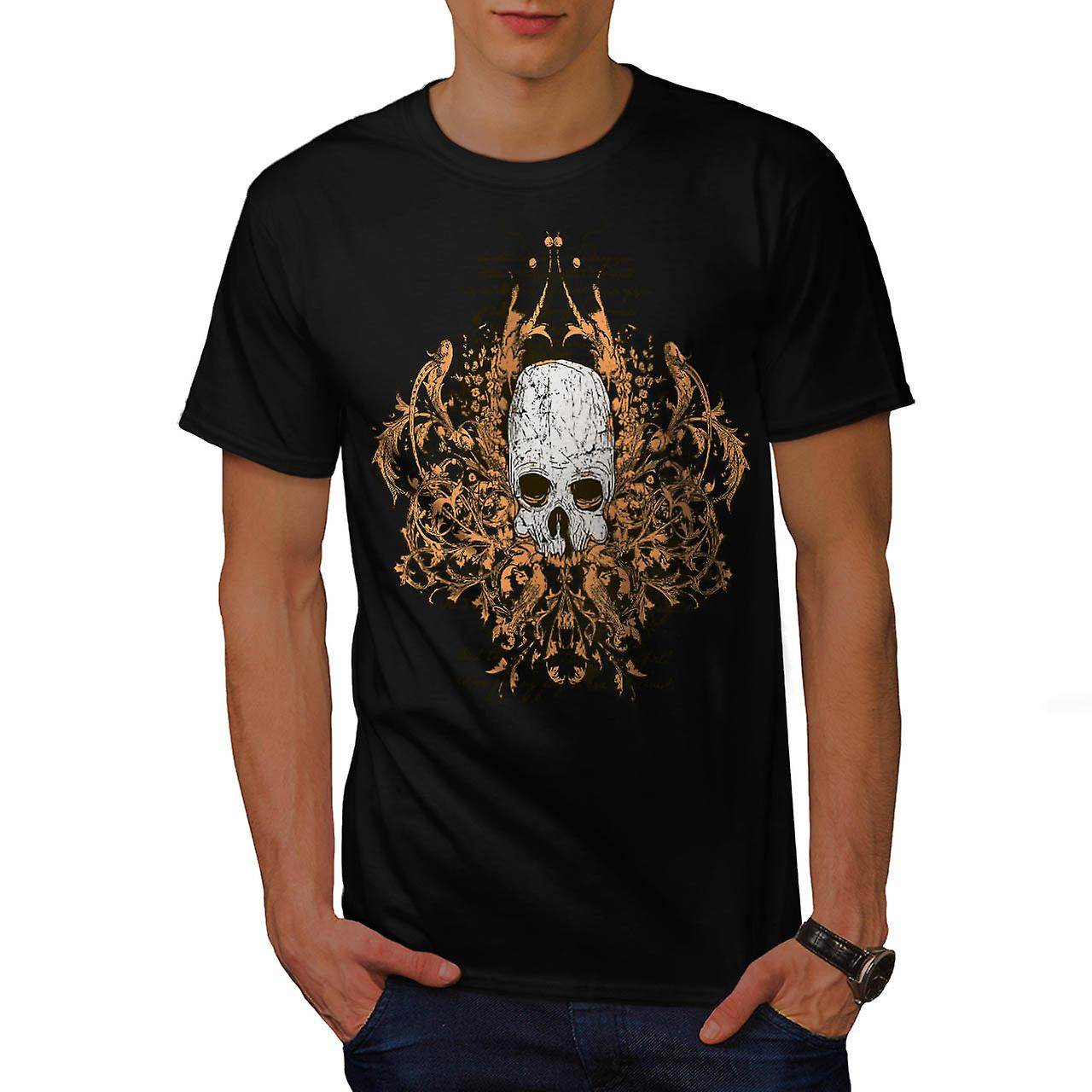 Monster Horror Skull Ghost Story mannen zwart T-shirt | Wellcoda