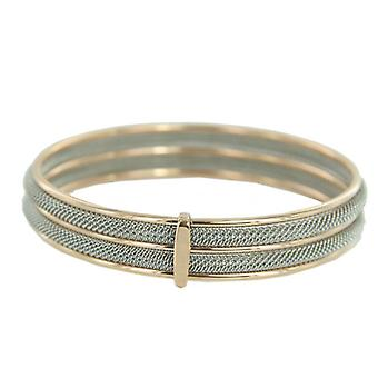 Skagen Ladies Bangle Bracelet Milanaiseband silver - rose gold JGSR029M