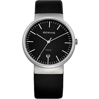 Bering mens watch wristwatch slim classic - 11036-402 leather