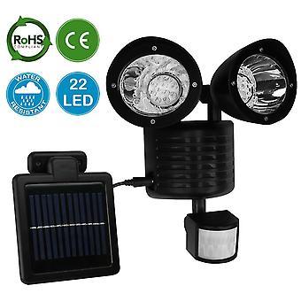 AMOS 22 LED Solar lys (sort)