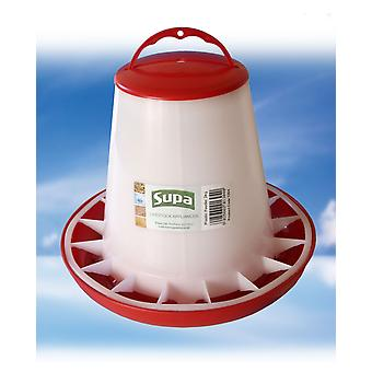Supa Poultry Feeder Red & White 3kg