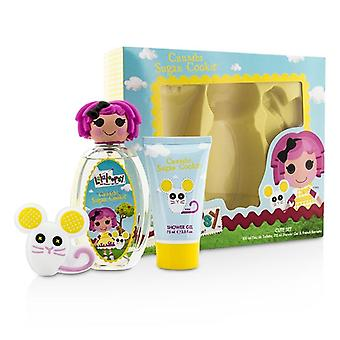 Lalaloopsy krummer sukker Cookie søde Coffret: Eau De Toilette Spray 100ml/3,4 oz + Shower Gel 75 ml/2.5 oz + fransk Barrette 3stk