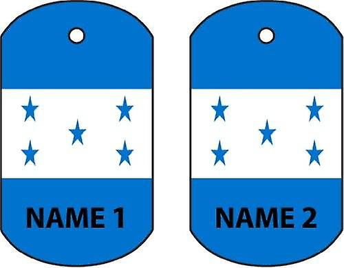 Personalised Honduras Dog Tag Car Air Freshener