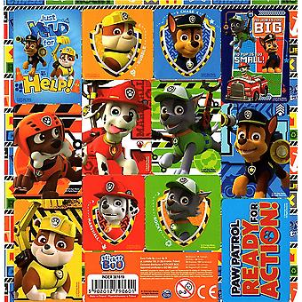 Official PAW PATROL Sticker Sheet Contains 12 Stickers in Total | BLUE