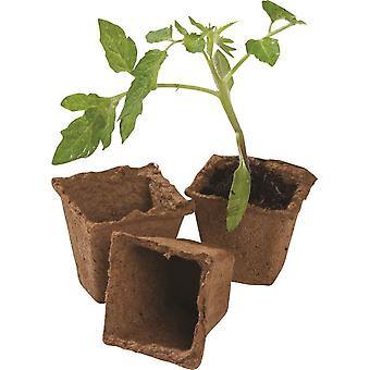 20pcs 6cm Square Fibre Pots For Home Growing Gardening Greenhouse