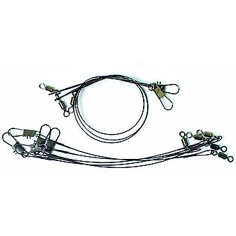 Eagle Claw Black Heavy Duty Wire Leaders Assorted Pack
