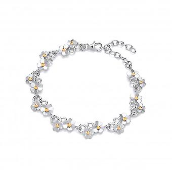 Cavendish French Silver Diddy Daisies Bracelet