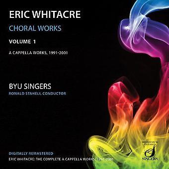 Whitacre - kor Works Vol 1: Cappella værker 1 [CD] USA import