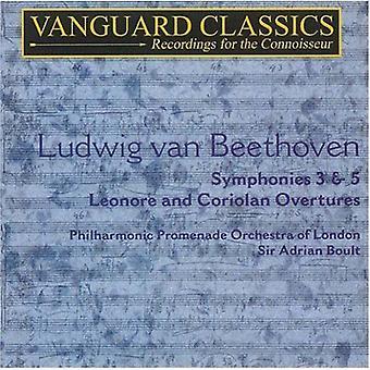 L.V. Beethoven - Ludwig Van Beethoven: Symphonies 3 & 5; Overtures [CD] USA import