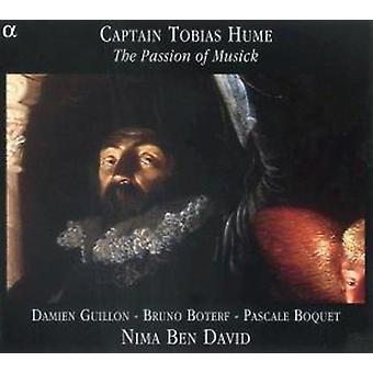 T. Hume - kaptajn Tobias Hume: The Passion af Musick [CD] USA import