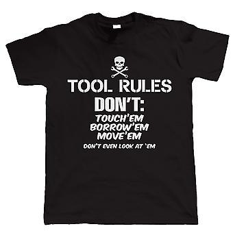 Tool Rules, Mens Funny Car T Shirt