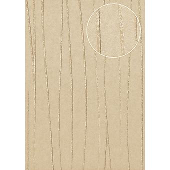 Stripes Atlas COL-570-4 non-woven wallpaper smooth design shimmering gold beige grey beige 5.33 m2
