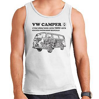 Haynes Workshop Manual VW Camper 72 To 79 Black Men's Vest