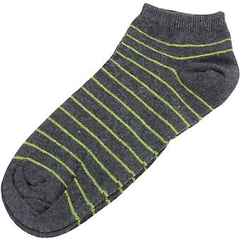 MySocks Striped Trainer Socks - Anthracite/Lime