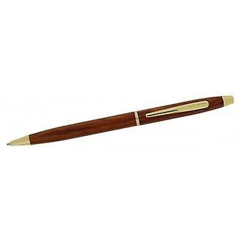 Gift Time Products Slim Cross Style Ballpoint Pen - Dark Brown/Gold